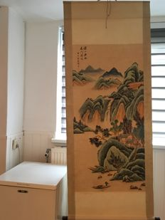Scroll painting of a beautiful landscape – China – late 20th century