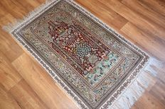 Wonderful & Original Persian Iran Qom 1000000 knotsM/2 handknotted 78x130cm