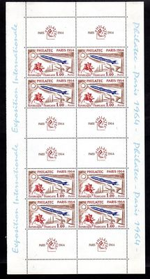 France 1964 – Philatelic exhibition in Paris, Philatec  – Yvert block No. 6