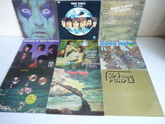 """Great Lot  with rock,hard rock and psychedelic rock albums:Rare Earth """"One world""""and""""In Concert"""",Alice Kooper""""From the Inside"""", Easy Rider""""Born on the Road"""",Deep Purple""""24 Carat Purple"""", """"Who do we think we are"""",""""Stormbringer"""", """"Shades""""and """"Gemini Suite"""""""