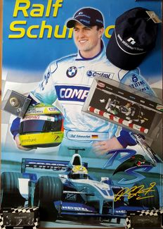 Paul's Model Art / HotWheels - Scale 1/43-1/8 - Williams F1 BMW FW 23, Pit Stop Diorama and Ralf Schumacher Collection