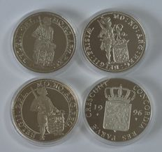 The Netherlands – Ducat 1995, 1996, 1997 and 1998 – silver