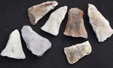 Collection of 7 Mesolithic flint Tranchet axes - 7.1 to 11.2 cm (7)