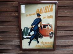 Very rare Fiat advertising sign.
