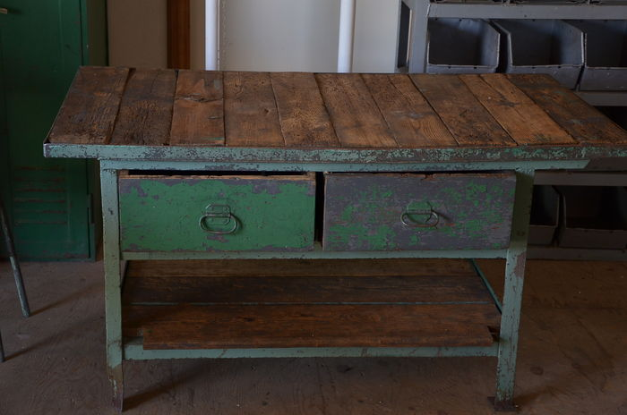 industrial workbench counter cooking island kitchen let s stay cool industrial sinks