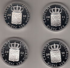 The Netherlands – Silver ducat 2010, 2011, 2012 and 2014