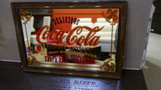 Old coca-cola mirror very intresting  In the frame