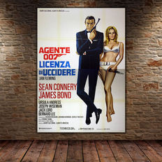 James Bond Dr No - Original Movie Poster - Licenza Di Uccidere - 140x200 cm - Sean Connery Ursula Andress