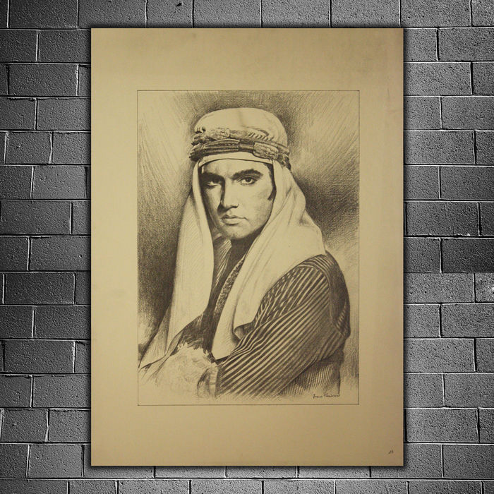 Elvis Presley - lithographic printing - Artistic portrait on ...