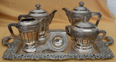 Complete serving set - Spanish silver- 2,825 grams