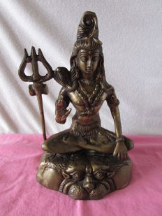 Solid bronze statue from Shiva, India, late 20th century