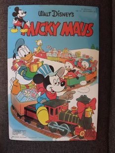 Rare metal sign Donald Duck - Mickey Mouse, Walt Disney