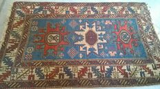 "Very old caucasian carpet ""Zejwa Kazak"" 1.38 m x 0,87 m"