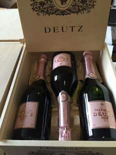 2012 Deutz rosé Champagne - 6 bottles (75cl) in original wooden case