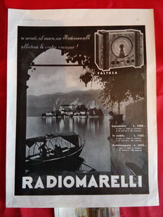 10 radio advertising posters from 1936 - Italy - original, in b/w