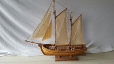 Handmade wooden sailing cutter