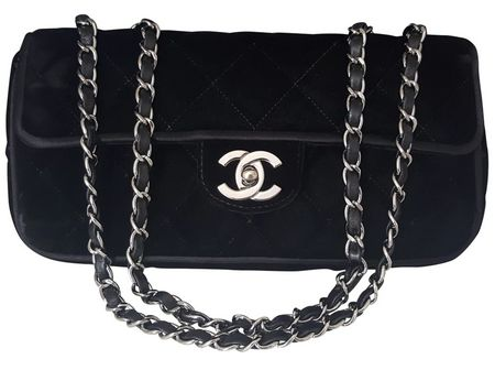 Chanel - Black Velvet Flap bag / Shoulder bag - Limited Edition