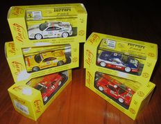 Bang Model - Scale 1/43 - Lot with 5 models: 5 x Ferrari F355 Berlinetta Challenge 1997