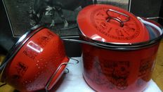 Carla Agnelli for Sital - Pot with strainer-lid, vintage, Egyptian-style decoration