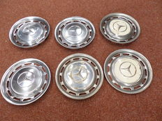 6 Mercedes Wheel caps - Diameter 39 cm - 15 inch