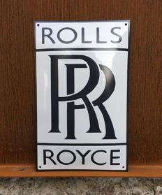 Rolls Royce enamel/emaille sign - late 90s