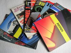 8 beautiful and rare publications from the world of motoring, 90s