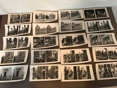 32 Stereograph photo cards - '50s - Italy: Milan & Venice