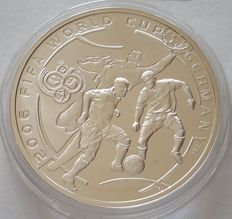 Armenia - 100 Dram 2004 2006 FIFA World Cup Soccer Games - Germany - silver