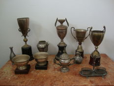 A Large Lot of 11 Silver Plated Items, 2Oth century