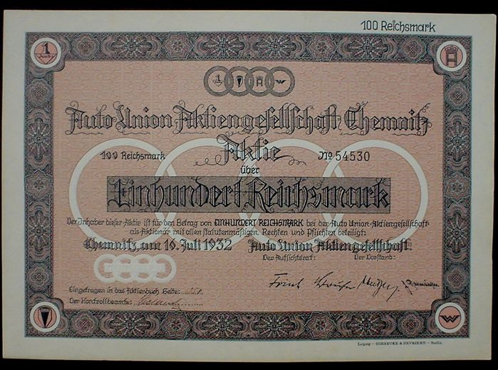 Germany - AUDI - Auto Union AG 100 RM Chemnitz 1932