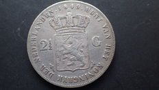The Netherlands – 2½ guilder coin 1849 William II – silver