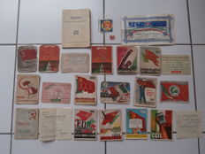 Lot met 19 documenten m.b.t. de Partito Comunista Italiano - 1946 / 1957
