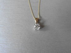 18k Gold Diamond Pendant - 0.40ct  I/J, SI1