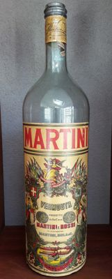 Very large empty glass bottle of 5 L - Martini - 2nd half of 20th century