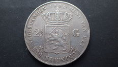 The Netherlands – 2½ guilder coin 1842 Willem III – silver