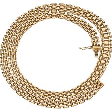14 kt yellow gold curb link necklace, length:  43 cm
