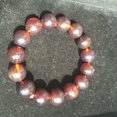 Burma Amber Bracelet weight 23.7 grams