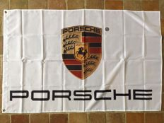 Porsche - Lot of 2 items - New flag (90 x 140 cm) + advertising Catalogue (08/1991) Porsche 911 964 type