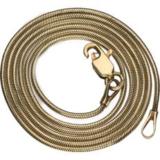Yellow gold snake necklace, 14 kt, length: 44 cm