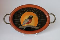 Art deco tray with German text