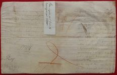 Manuscript; Autographe of Louis XIV and Colbert - no date