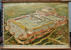 """Old school poster with """"the Temple of Jerusalem"""""""