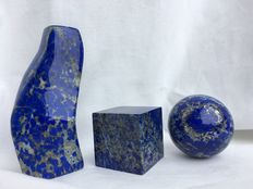 Madani Lapis Lazuli - free-form, sphere and cube -  45mm - 874gm  (3)