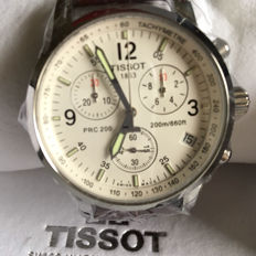 Tissot prc 200 men's chronograph wristwatch, from 2017, never worn