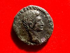 Roman Hispania - Augustus (27 B.C. -14 A.D.) bronze as (10,60 g. 25 mm.) minted in Rome. P LVRIVS AGRIPPA IIIVIR AAAFF. Large S C. Very scarce.