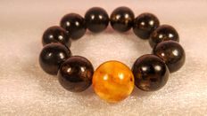 Huge Baltic amber beads bracelet, No Reserve, 56gr