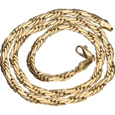 14 kt yellow gold curb link necklace, length: 45 cm