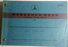 Mercedes Benz -  W114 250C/250CE/280CE - spare parts catalogue - 1972