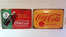 2 Coca Cola advertising signs, Limited Edition-20th century.