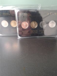 San Marino - 2 Euro 'Precious Metal Set' 2013 - 2 Sets (of 4 different coins)
